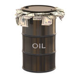 Oil Dollar Royalty Free Stock Image