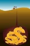 Oil Dollars royalty free stock photo