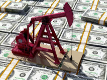 Oil and dollars. Royalty Free Stock Photography