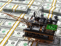 Oil and dollars. Stock Image