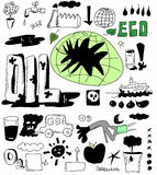 Oil doodle concept Royalty Free Stock Photography