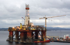 Oil drill platform on recovery
