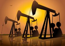 Oil Drilling stock illustration