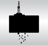 Oil drilling b&w background Stock Images