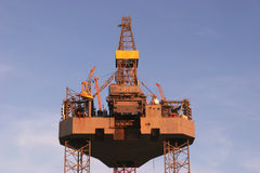 Oil drilling platform Stock Image