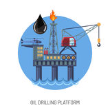 Oil drilling platform concept Royalty Free Stock Photos