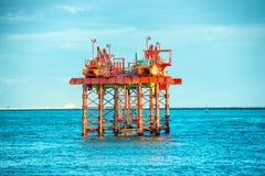 Oil drilling platform offshore Stock Photo