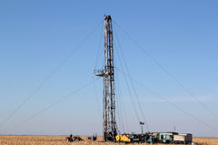 Oil drilling rig Stock Image