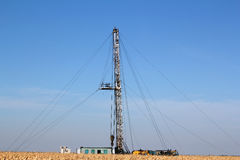 Oil drilling rig Royalty Free Stock Image