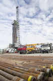 Oil drilling rig Stock Images
