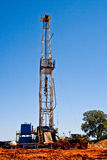 Oil Drilling Rig. Drill for a new oil well in central Oklahoma Stock Photos