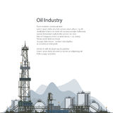Oil Drilling Rig, Brochure Flyer Design Royalty Free Stock Photos