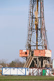 Oil drilling rig and equipment Royalty Free Stock Photography