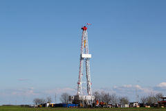Oil drilling rig Royalty Free Stock Photography