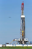 Oil drilling rig on field Royalty Free Stock Photography