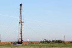Oil drilling rig industry Royalty Free Stock Photos