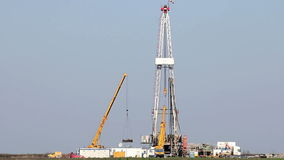 Oil drilling rig stock video