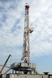 Oil drilling rig Stock Photography