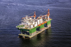 Oil drilling rig on the ocean Stock Images