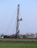 Oil drilling rig Royalty Free Stock Images