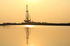 Oil Drilling Royalty Free Stock Photos