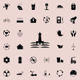 Oil drilling station icon. Detailed set of Ecology icons. Premium quality graphic design sign. One of the collection icons for web. Sites, web design, mobile app stock illustration