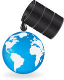 Oil is dripping on Earth Royalty Free Stock Photos