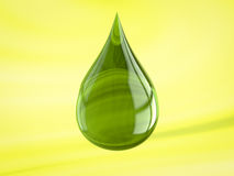 Oil drop. Shiny drop useful for oil or detergent advertising Royalty Free Stock Image
