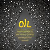 Oil drop abstraction. Stock Photography