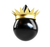 Oil drop with a golden crown crown Royalty Free Stock Photography