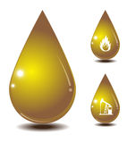 Oil drop isolate on white back ground Stock Photo