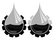 Oil Drop logo. Royalty Free Stock Photo