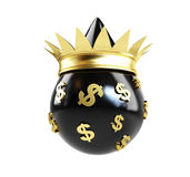 Oil drop queen money Royalty Free Stock Photos