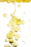 Oil drops. Olive oil drops studio isolated on white background Royalty Free Stock Photography