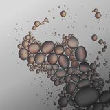 Oil drops in the gray water vector background.  Royalty Free Stock Photography