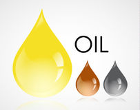 Oil drops Royalty Free Stock Photography