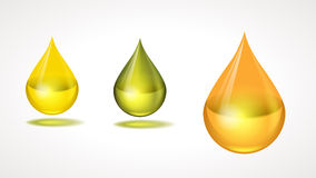 Oil Drops Royalty Free Stock Photos