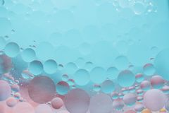 Oil drops. In water -  colorful abstract background royalty free stock image