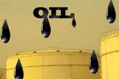 Oil drops on oiltank Royalty Free Stock Photo