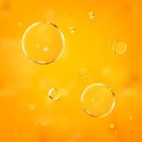 Oil drops. Vector illustration. Royalty Free Stock Photography