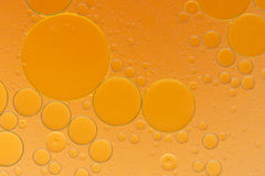 Oil drops on a water surface Royalty Free Stock Photography