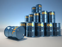 Oil drum Royalty Free Stock Photos