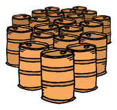 Oil drum / Bunch of barrels Royalty Free Stock Image