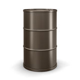 Oil drum (clipping path included) Royalty Free Stock Photos