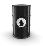 Oil drum (clipping path included) Stock Photos