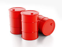 Oil Drum. Red Oil Drums on white background vector illustration
