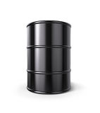 Oil Drum  on white. Royalty Free Stock Images