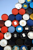 Oil drums. Piled up high Royalty Free Stock Images