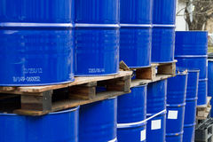 Oil drums Stock Images