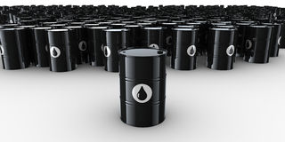 Oil drums. 3d rendering of lots of oil drums Royalty Free Stock Image